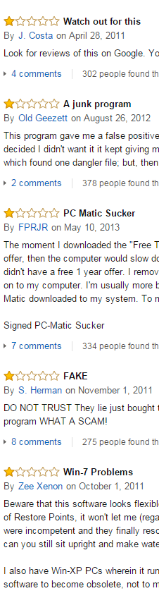 PC Matic Reviews from Amazon